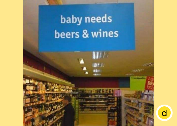 Baby needs... beers & wines